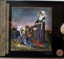 Guerre 1914-18 - WW1 - Religieuses Infirmières Et Blessés - PLAQUE De VERRE LANTERNE MAGIQUE - TBE - Diapositiva Su Vetro