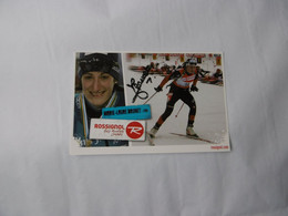 Biathlon- Autographe - Carte Signée Marie-Laure Brunet - Sport Invernali