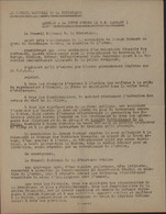 Tract Conseil National Résistance Guerre 40 Appel à Lutte Contre S.S. Darnand 1944 Parle Volontaires Waffen SS Français - Historische Dokumente