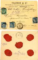 SEINE ENV 1893 LETTRE RECOMMANDEE SAGE BUREAU D'INTERETS PRIVES CHARENTON MAGASINS-GENERAUX - 1877-1920: Semi-moderne Periode