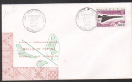 Wallis Et Futuna FDC FFC Premier Vol Aerien Poste Aerienne Concorde Cachet Mata-utu Avion 17/4/69 - Covers & Documents