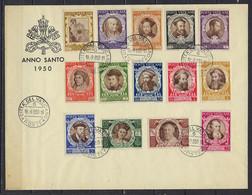 Vatican - N°128 à 139 + Exp 9-10 - 2 Séries + Doubles **,*,obl + Enveloppe Anno Santo 1950 - Concile De Trente - Nuevos
