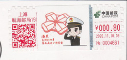 China 2020, ATM, Customs Support 2020 The Third Import Exhibition On Postal Used Postcard, Arrival Postmark, RARE - Brieven En Documenten