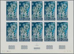 Afar Und Issa: 1974, Lake Assal, Lot Of Twelve IMPERFORATE Sets (marginal Blocks Of Ten Incl. Coins - Zonder Classificatie