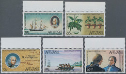Aitutaki: 1989, Bicentenary Of The Discovery Of Aitutaki Complete Set Of Five (HMS Bounty, Captain B - Aitutaki