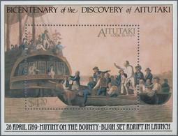 Aitutaki: 1989, Bicentenary Of The Discovery Of Aitutaki Miniature Sheet Showing 'Mutiny On The Boun - Aitutaki