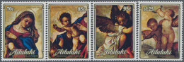 Aitutaki: 1989, Christmas Complete Set Of Four With Different Details From Tizian Painting 'Glorific - Aitutaki