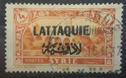 LATTAQUIE 1931, Yvert No 11, 4 Piastres Orange Obl  TB - Oblitérés