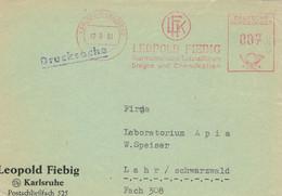 BVS Leopold Fiebig Drogen Chemikalien Karlsruhe Baden 1961 - Apotheek