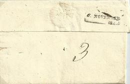 Maine Et Loire , Saumur , Marque Du 5 Novembre 1822 En Arrivée ( Verso ) - 1801-1848: Precursori XIX