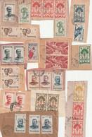 MADAGASCAR  Lot De Timbres Sur Fragments - Used Stamps