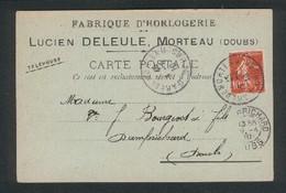 25 - Morteau - Horlogerie Lucien Deleule Montres Nickel , Acier , Argent 8 Avril 1910 - Autres Communes