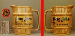 1 Pichet à WHISKY LONG JOHN En Forme De Tonneau (marché Anglais) - Jugs