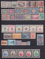 COLOMBIE - 1944/1958 - SELECTION TIMBRES PRINCIPALEMENT ** MNH -  COTE YVERT = 150 EUR. - 2 PAGES ! - Colombia
