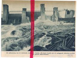 Orig. Knipsel Coupure Tijdschrift Magazine - Finland - Elektrische Centrale Te Imatra - 1939 - Unclassified