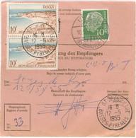 PAIRE 10 ROYAN TARIF MANDAT POSTE INTERNATIONAL TAXE DE FACTAGE A DOMICILE OBLITERATION  ST JEAN DE LUZ 12/5/55 - 1921-1960: Periodo Moderno