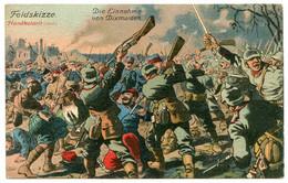 Guerre 1914-18.Belgique.bataille Des Flandres Prise De Dixmude Par Les Allemands.carte Colorée à La Main - War 1914-18