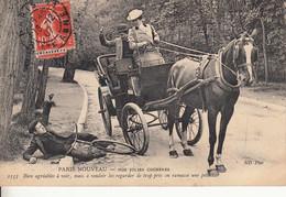 75 PARIS 1906 Les Femmes Cochers Accident Chûte De Bicyclette - Craft