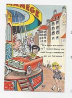 CPM - Illustrateur MAT. Humour - Enfants Sur Manège, Voiture, Cheval Et Cochon - Other Illustrators