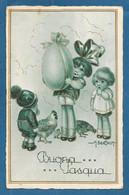 ILLUSTRATORE BERTIGLIA BAMBINI AUGURALE BUONA PASQUA VG. 1934 N°B031 - Bertiglia, A.