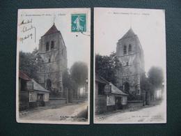 Lot 2 Cpa BULLY GRENAY 62 Pas De Calais  L' église  En Noir Et Blanc Et Colorisée - Altri Comuni