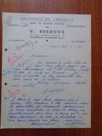 THEME BIERE - FACTURE - BRASSERIE DU TREMBLAY , 94 - CHAMPIGNY SUR MARNE - R. VIGROUX - Beer