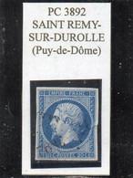 Puy-de-Dôme - N° 14A (tr De Pli) Obl PC 3892 Saint Rémy-sur-Durolle - 1853-1860 Napoleon III