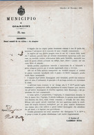 COMUNE DI GIARDINI-MESSINA-10-NOV.1889-DOCUMENTO ORIGINALE-POPOLAZIONE ATTERRITA ....EVENTO NEFASTO! - Messina