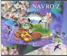 2020. Uzbekistan, Nouruz Holiday, Bird, Flowers, S/s, Mint/** - Uzbekistan