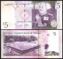 Tonga - 5 Pa'anga 2009 ( 2014 ) UNC Pick 39b Lemberg-Zp - Tonga