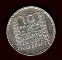10 Francs Turin 1931 - K. 10 Francs