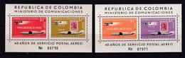 COLOMBIE - 1959 - YVERT N° BLOCS 15/16 * MLH - COTE = 35 EUR. - COURRIERS AERIENS - Colombie