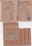 WW2 VILLEMOMBLE - 2 Cartes D'Alimentation Avec Tickets & Carte De Charbon - Famille PICHOT - Documentos Históricos