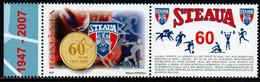 Romania 2007, Scott 4958, MNH With Label, Steaua Football Club - Ungebraucht