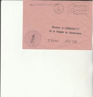 Z1 - Enveloppe Brigade  Gendarmerie De L'AIR à SAINTES   -   En Franchise - - Posta Aerea
