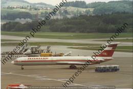 PHOTO RETIRAGE REPRINT AVION  ILYUSHIN Il 62   INTERFLUG DDR-SEF. - Aviazione