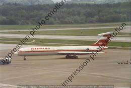 PHOTO RETIRAGE REPRINT AVION   ILYUSHIN IL 62 INTERFLUG DDR-SEF - Aviazione