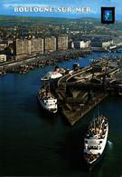 N° 5909 Z -cpsm Boulogne Sur Mer -le Port Et Les Car Ferries- - Ferries