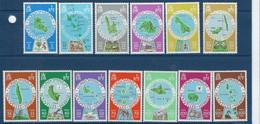 """Nles-Hebrides YT 495 à 507 """" Cartographie Des Iles, Français """" 1977 Neuf** - Unused Stamps"""