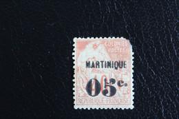 1888,MARTINIQUE Y&T NO 14 5C SUR 40C ROUGE-ORANGE TYPE ALPHEE DUBOIS TP DE 1881 SURCHARGE NEUF MH.. - Unused Stamps