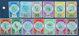 """Nles-Hebrides YT 508 à 520 """" Cartographie Des Iles, Anglais """" 1977 Neuf** - Unused Stamps"""
