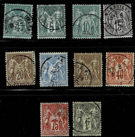 C6-lot  Sage Type I.  Timbres Choisis En Bon état. Cote Maury 300 Euros - 1876-1878 Sage (Tipo I)