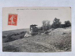 LASSY 35 Ille Et Vilaine LE PASSAGE Du TRAMWAY A Travers Les LANDES BLANCHES Carte Postale Ancienne CPA Animee - Altri Comuni