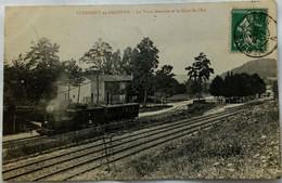 55 / Clermont En Argonne (Meuse) Le Train Meusien Et La Gare De L'Est - Clermont En Argonne