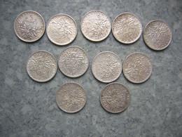LOT DE 11 X 5F SEMEUSE ARGENT - J. 5 Francs