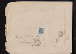 """Oblit. - Losange Gros Chiffres """"898"""" - Charleville - Lettre Pour Toulouse  - 5 Mars 1872 - 1849-1876: Periodo Classico"""
