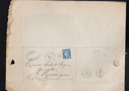 "Oblit. - Losange Gros Chiffres ""1603"" - Fumay - Lettre Pour Maringues  - 21 Juin 1872 - 1877-1920: Periodo Semi Moderno"