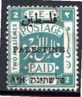 PALESTINE - (Administration Civile) - 1920-21 - N° 16AA - 2 M. Vert - (Dentelé 15x14) - Palestine