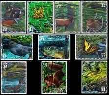 Etats-Unis / United States (Scott No.3378a-j - Pacific Coast Rain Forest) (o) Set - Oblitérés