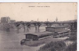 [51] Marne  Epernay Pont Sur La Marne Péniche Bateau Lavoir - Epernay
